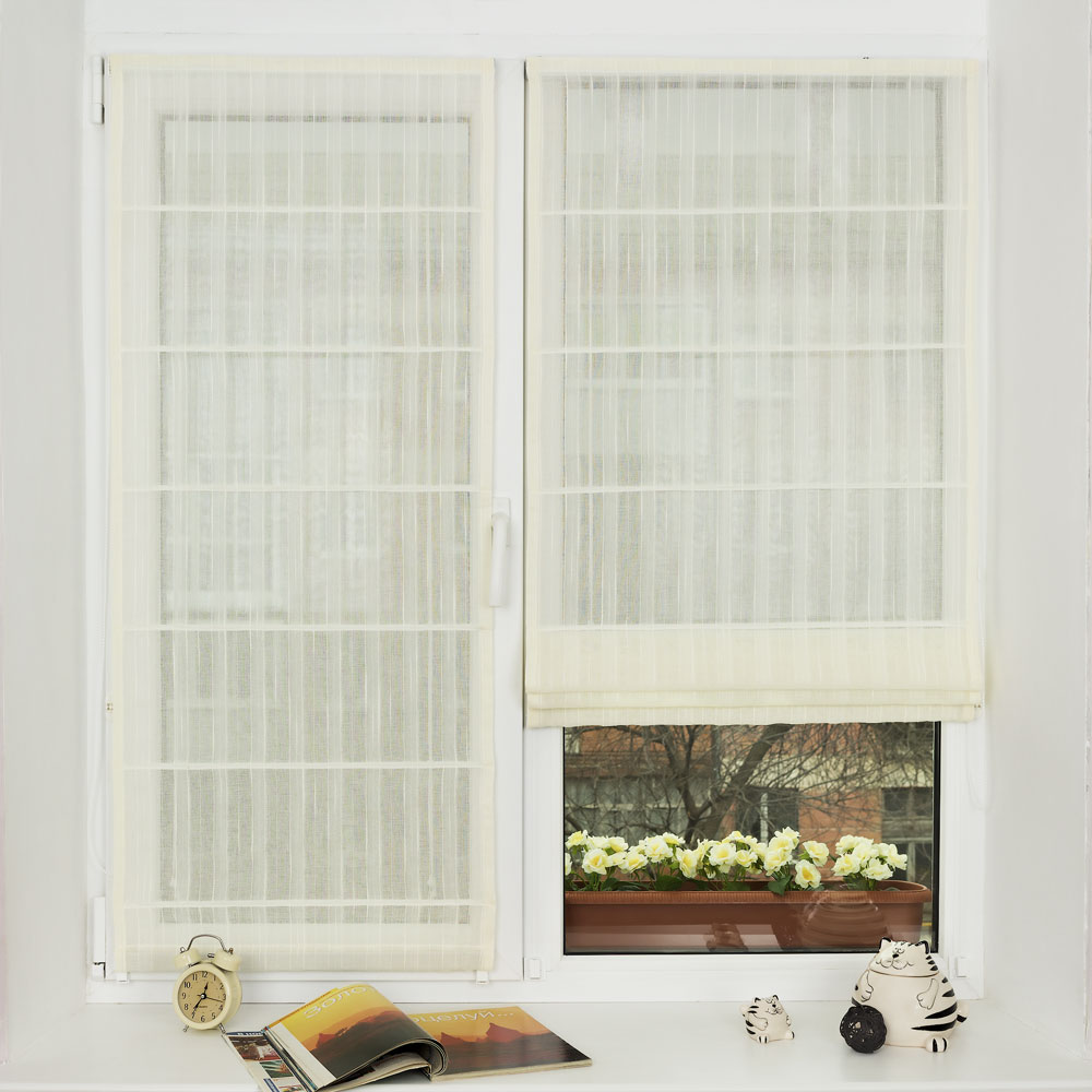Крепление римской шторы к пластиковому окну