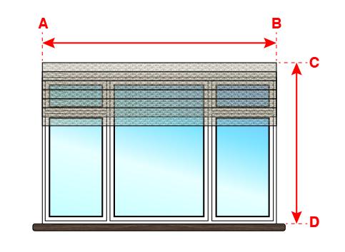 Замеры для римской шторы, установка внутри оконного проёма