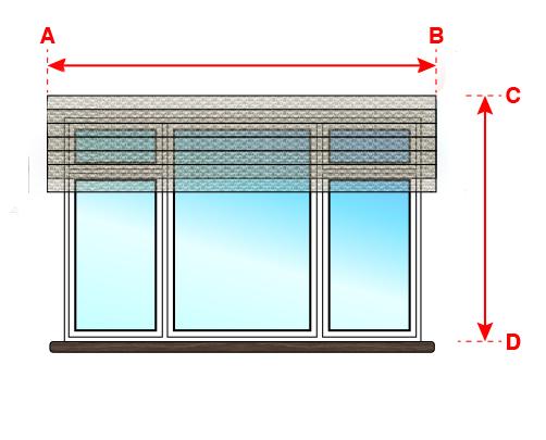 Замеры для римской шторы, установка на стену над окном