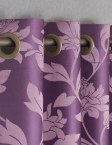 Шторы на люверсах с цветочным рисунком