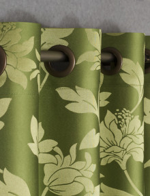 Шторы на люверсах с цветочным рисунком Celine 50