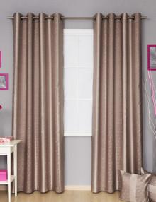 Шторы на люверсах серого цвета с декоративными подушками Jessica 4