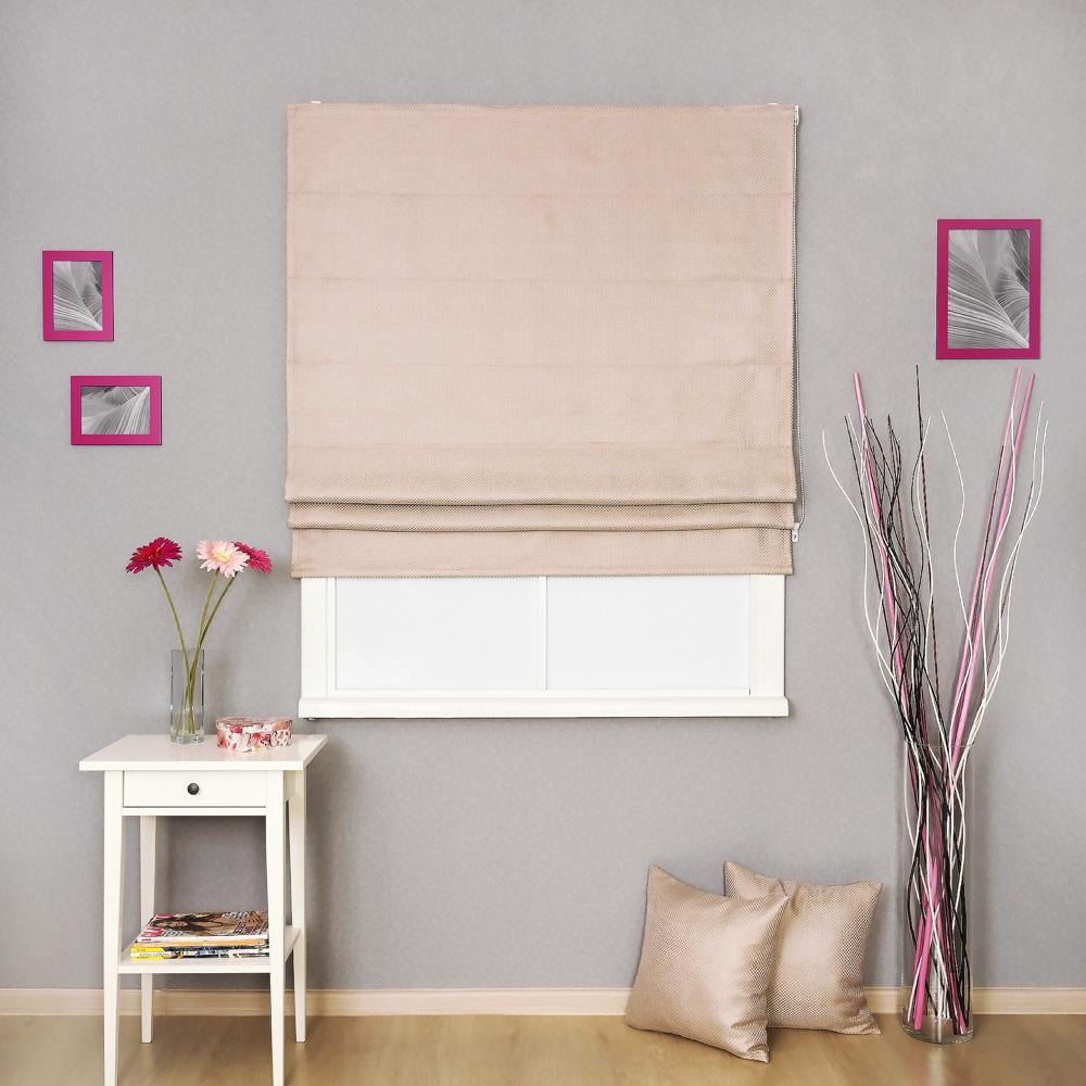 Римская штора из плотной ткани