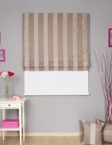 Римская штора в полоску с декоративными подушками Jessica 4