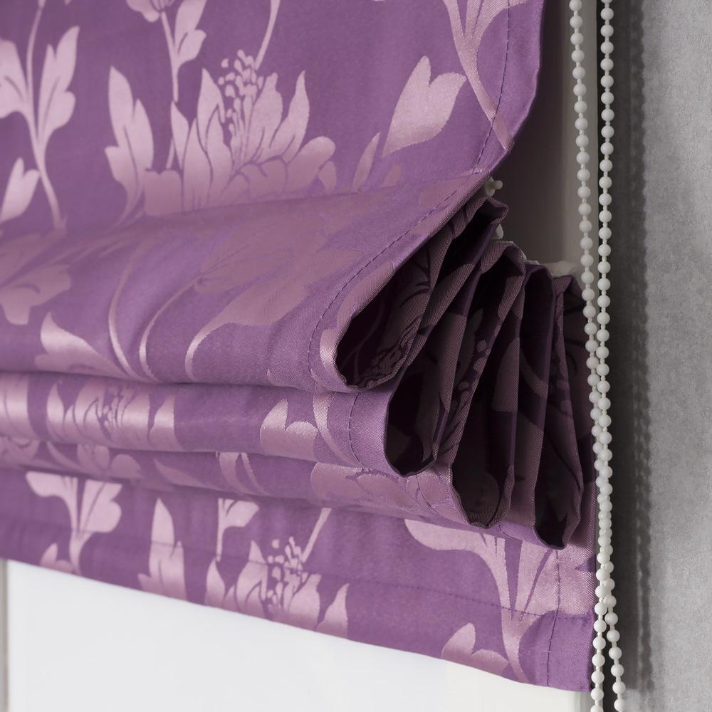 Римская штора с цветочным рисунком