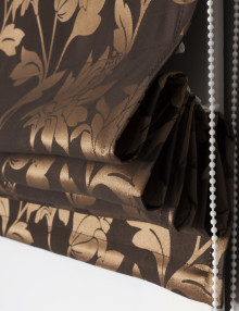 Римская штора золотистого цвета Celine 9