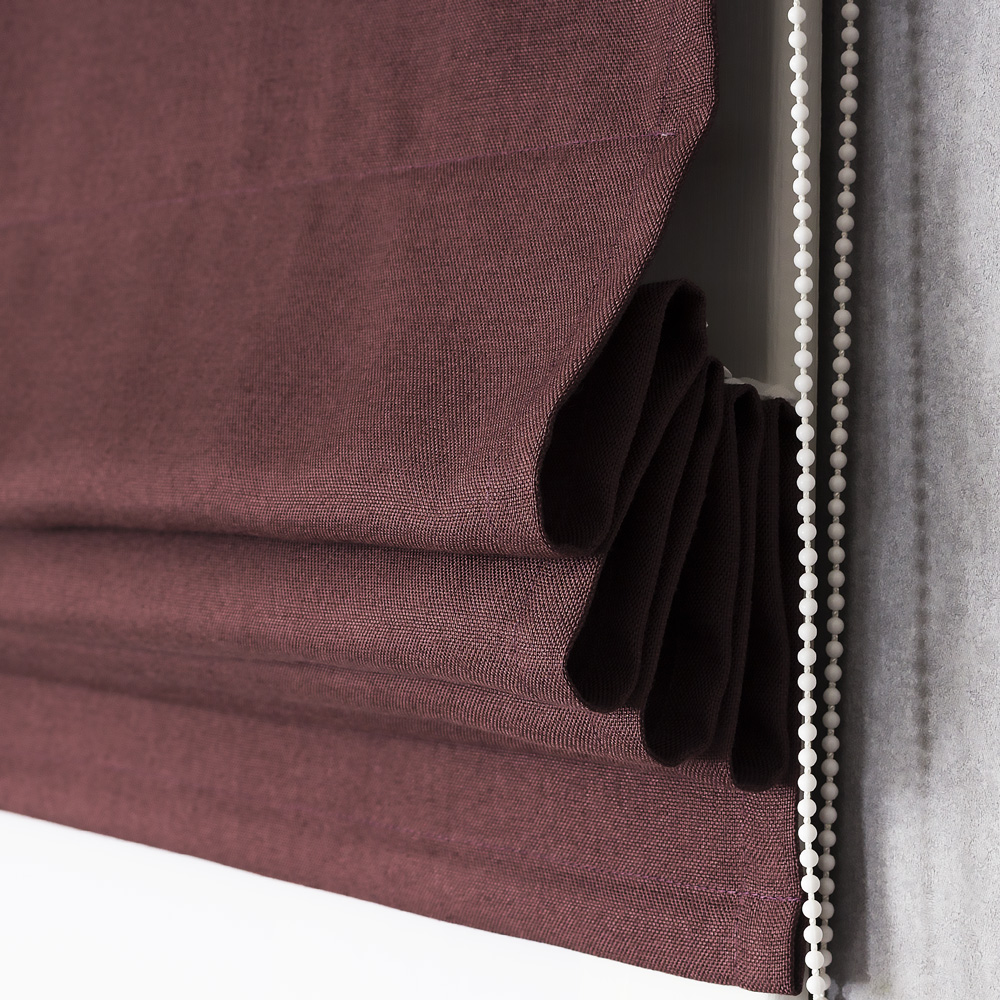 Собранная римская штора цвета махагон Diana M20