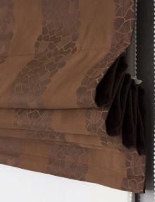 Собранная римская штора кагтанового цвета jessica 2