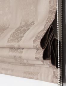 Римская штора в полоску серого цвета Jessica 4