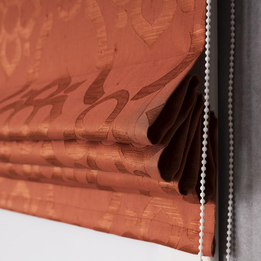 Римская штора вид сбоку