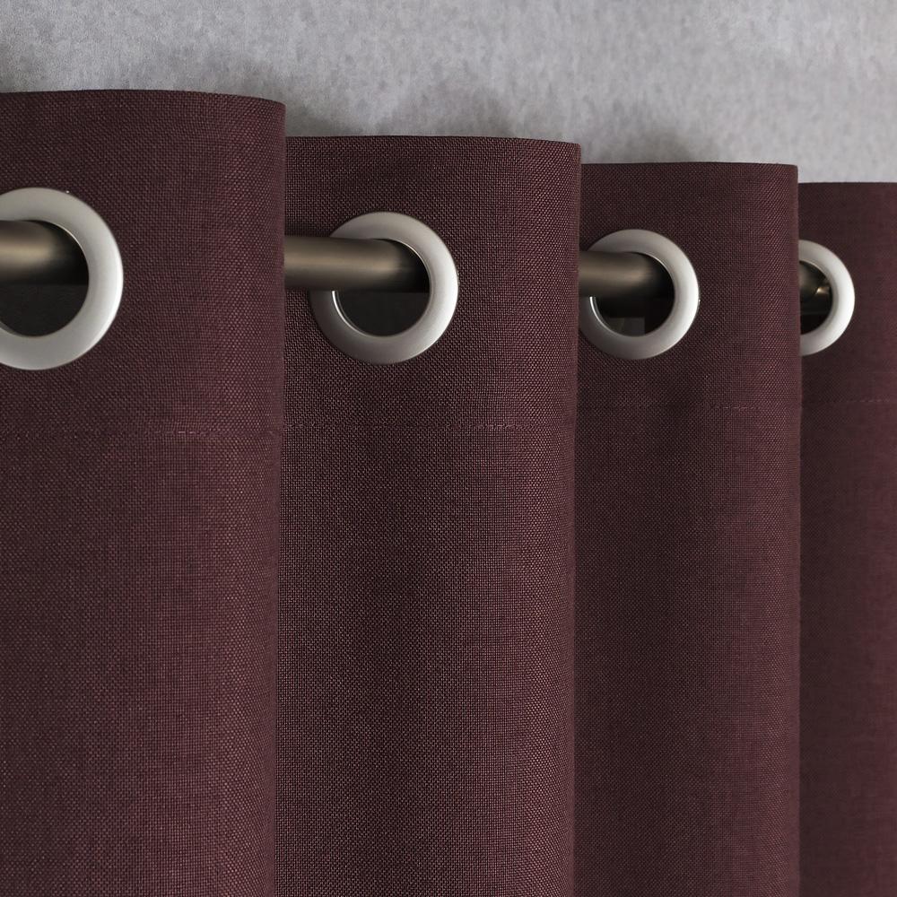 Штора на люверсах Diana M20 цвет махагон