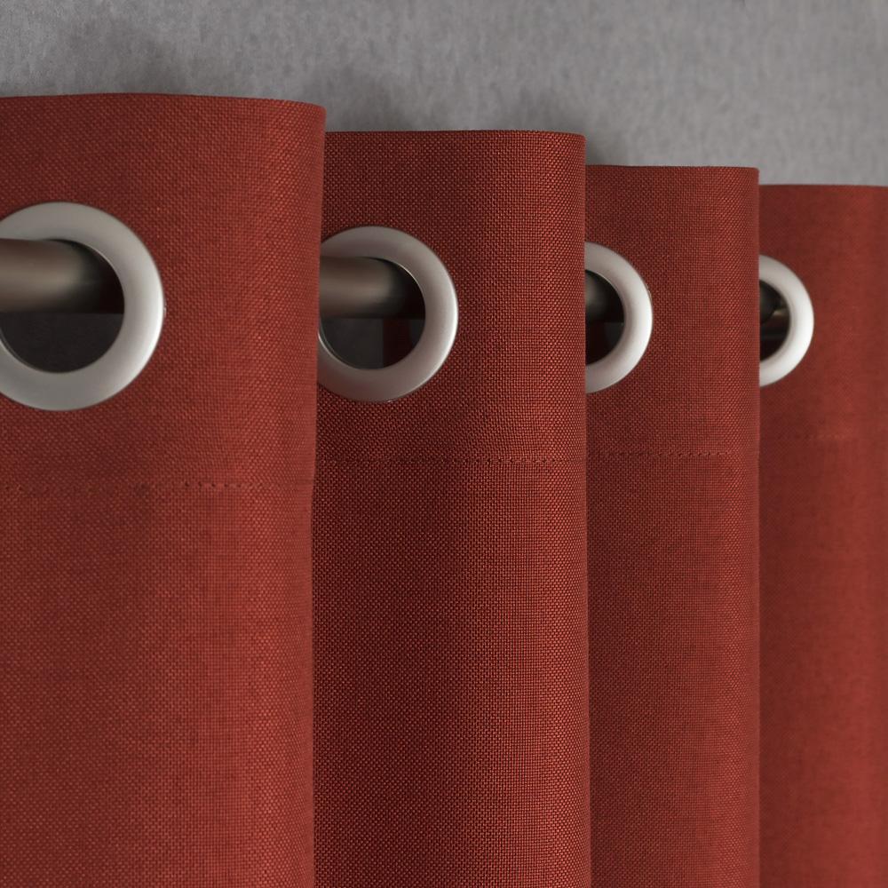 Шторы на люверсах терракотового цвета Diana M56