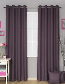 Портьеры на люверсах Diana M46 цвета баклажан