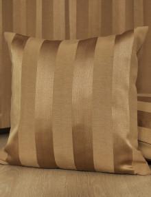 Подушка Lily 70 в полоску золотого цвета