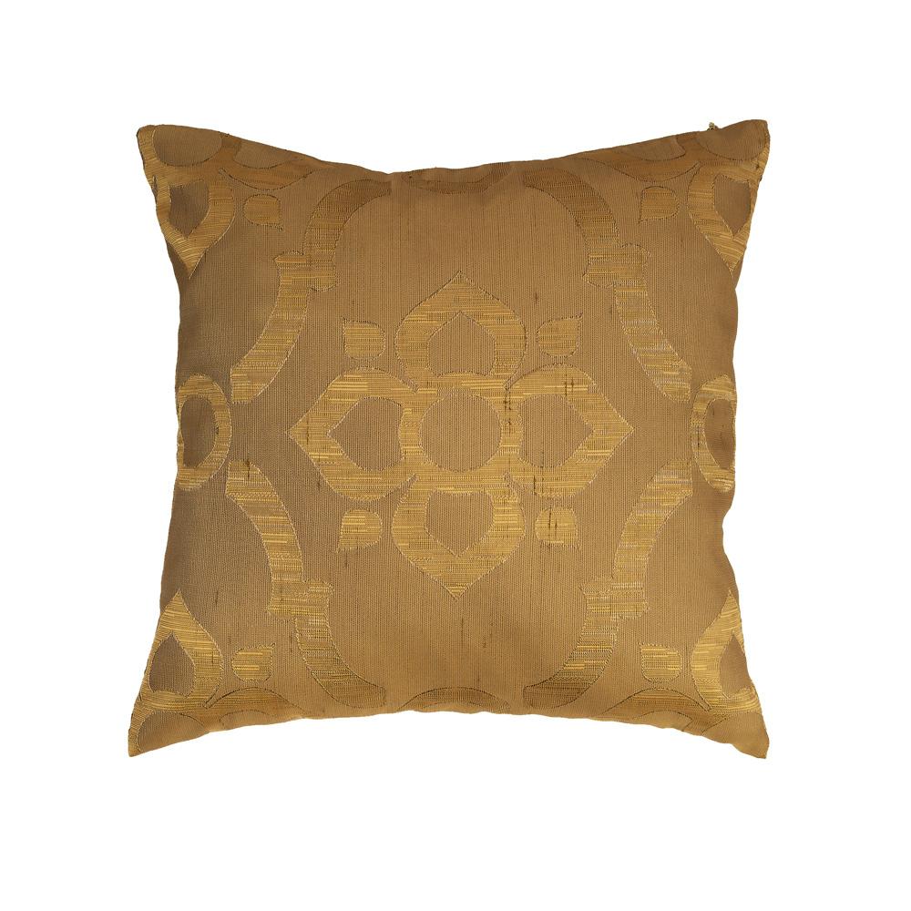 Подушка Pella 70 с классическим рисунком золотистого цвета