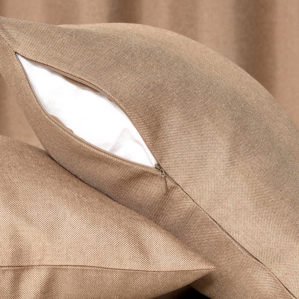 Декоративная подушка светлокоричневого цвета со съемной наволочкой Diana M14
