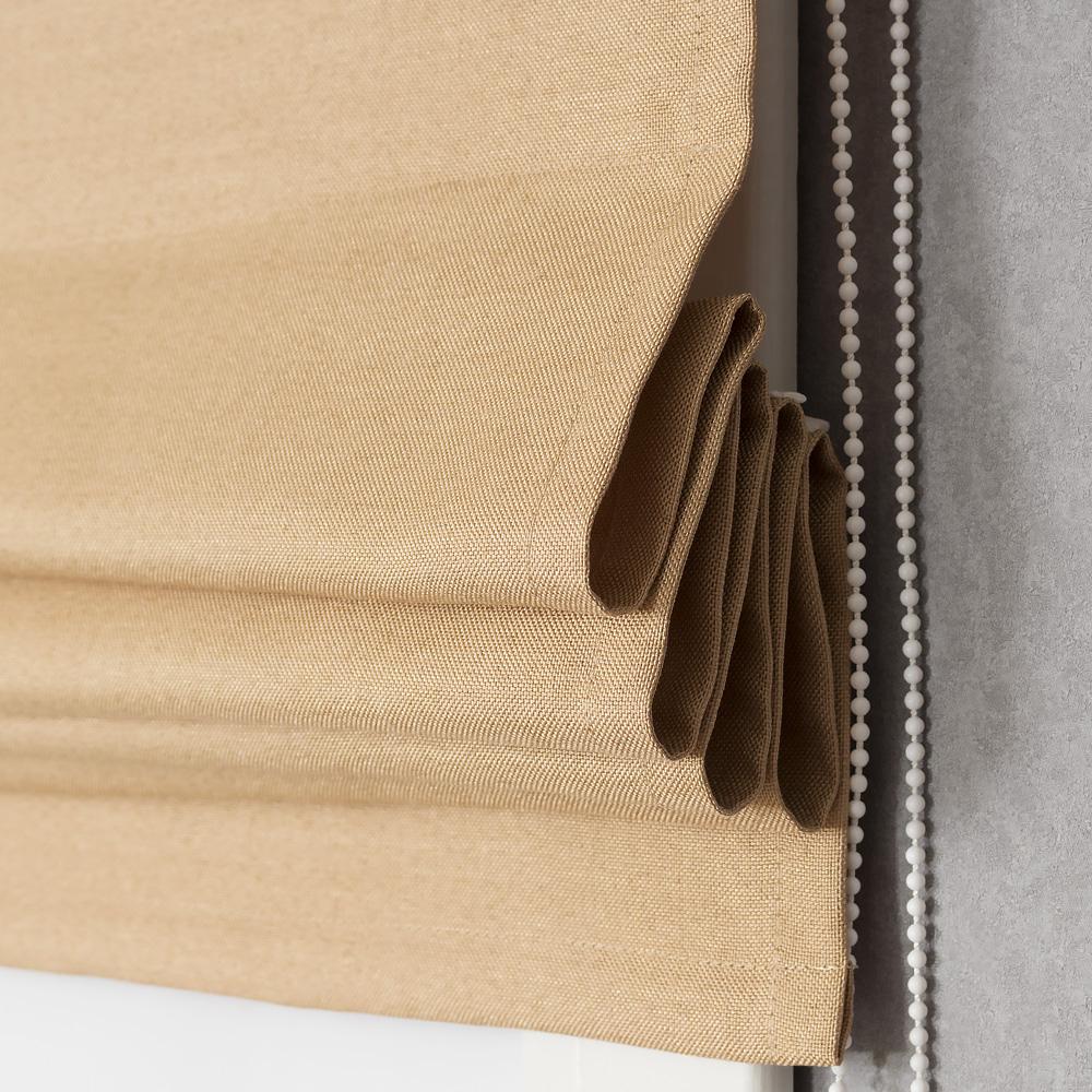 Римская штора с карнизом Diana M10 песочного цвета