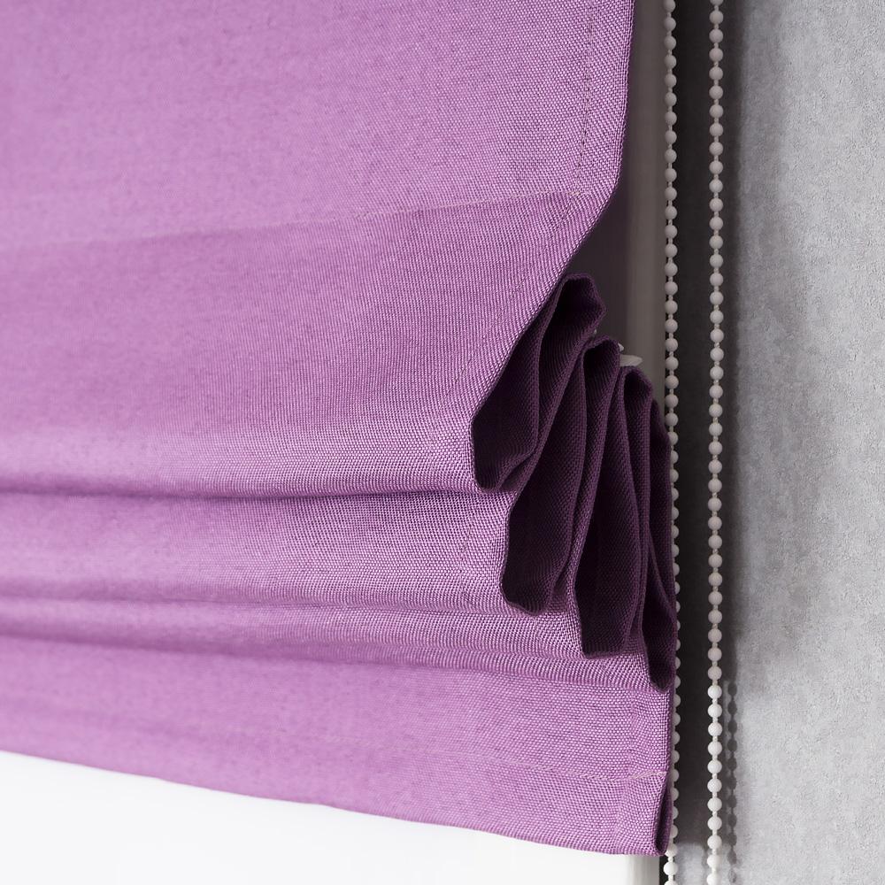 Римская штора Diana M40 розово-сиреневого цвета