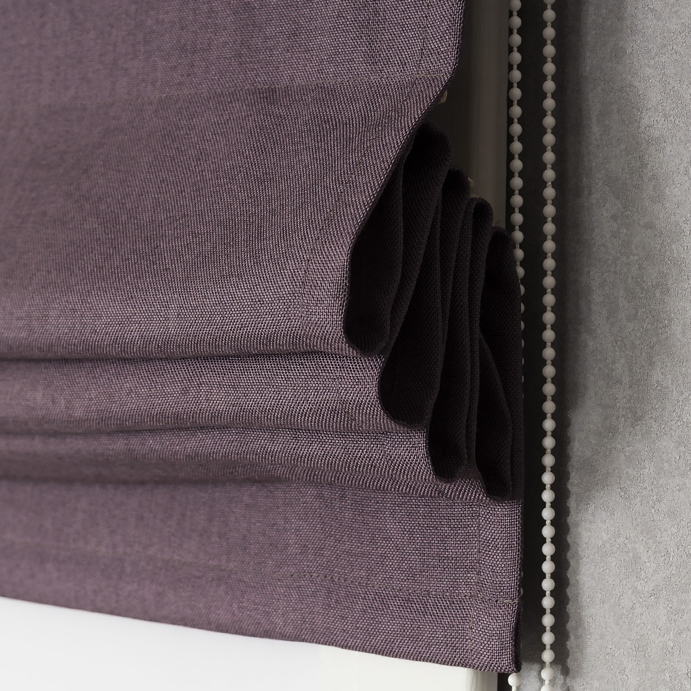 Римская штора с карнизом Diana M46 цвета баклажан