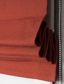 Римская штора терракотового цвета с карнизом Diana M56