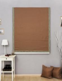 Римская штора с декоративным кантом