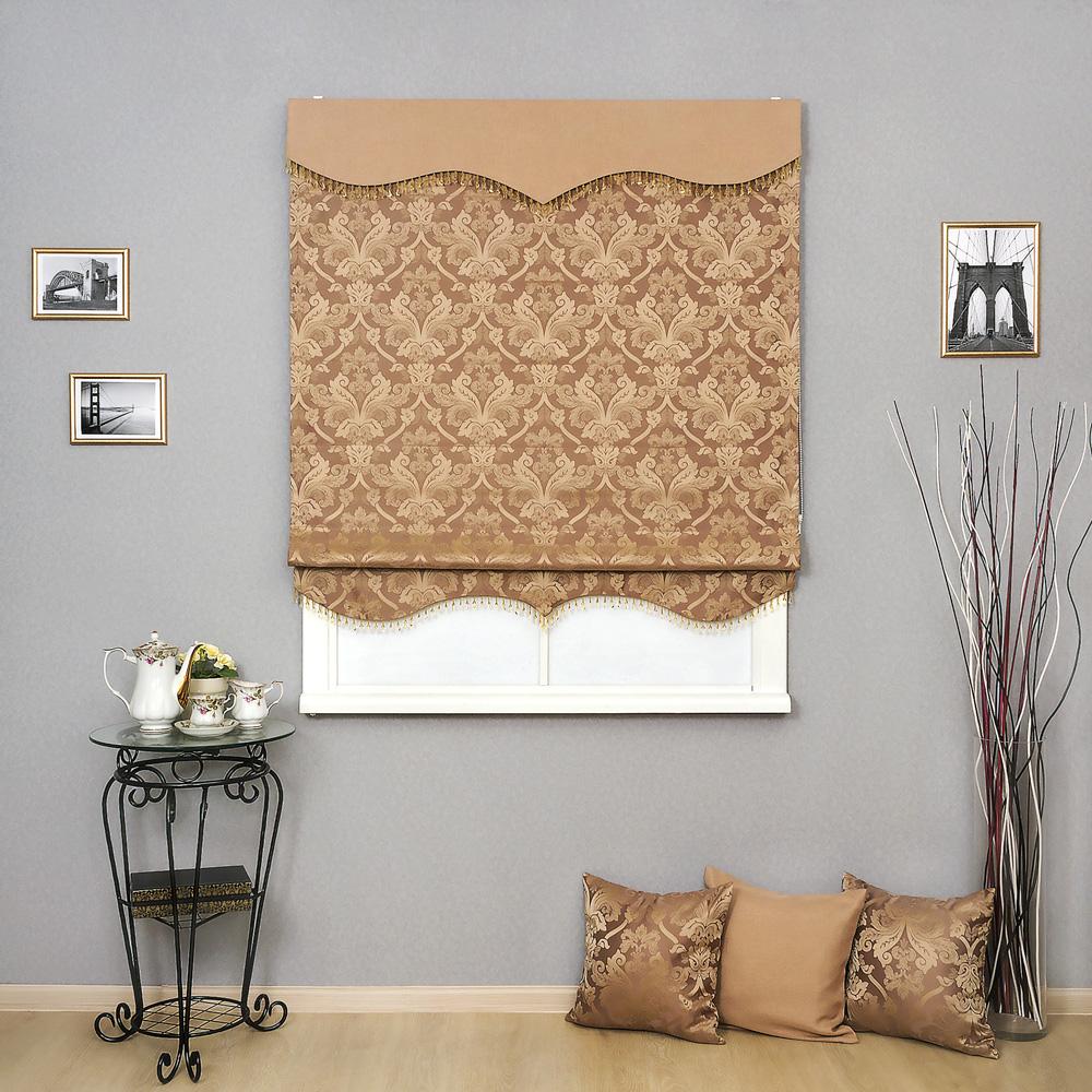 Римская штора в классическом стиле Brenda 16 с ламбрекеном