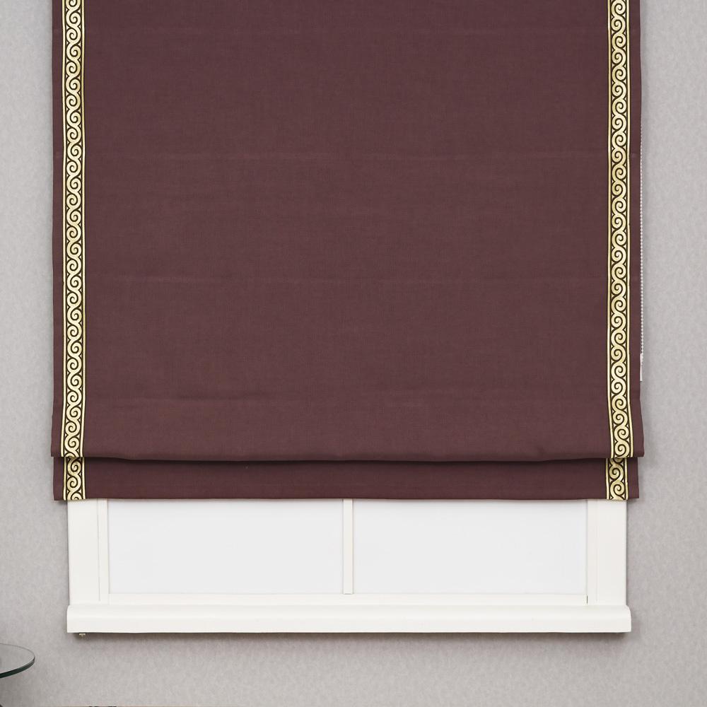 Римская штора с декоративным золотым кантом Diana M20