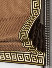 Римская штора с декоративным кантом в греческом стиле