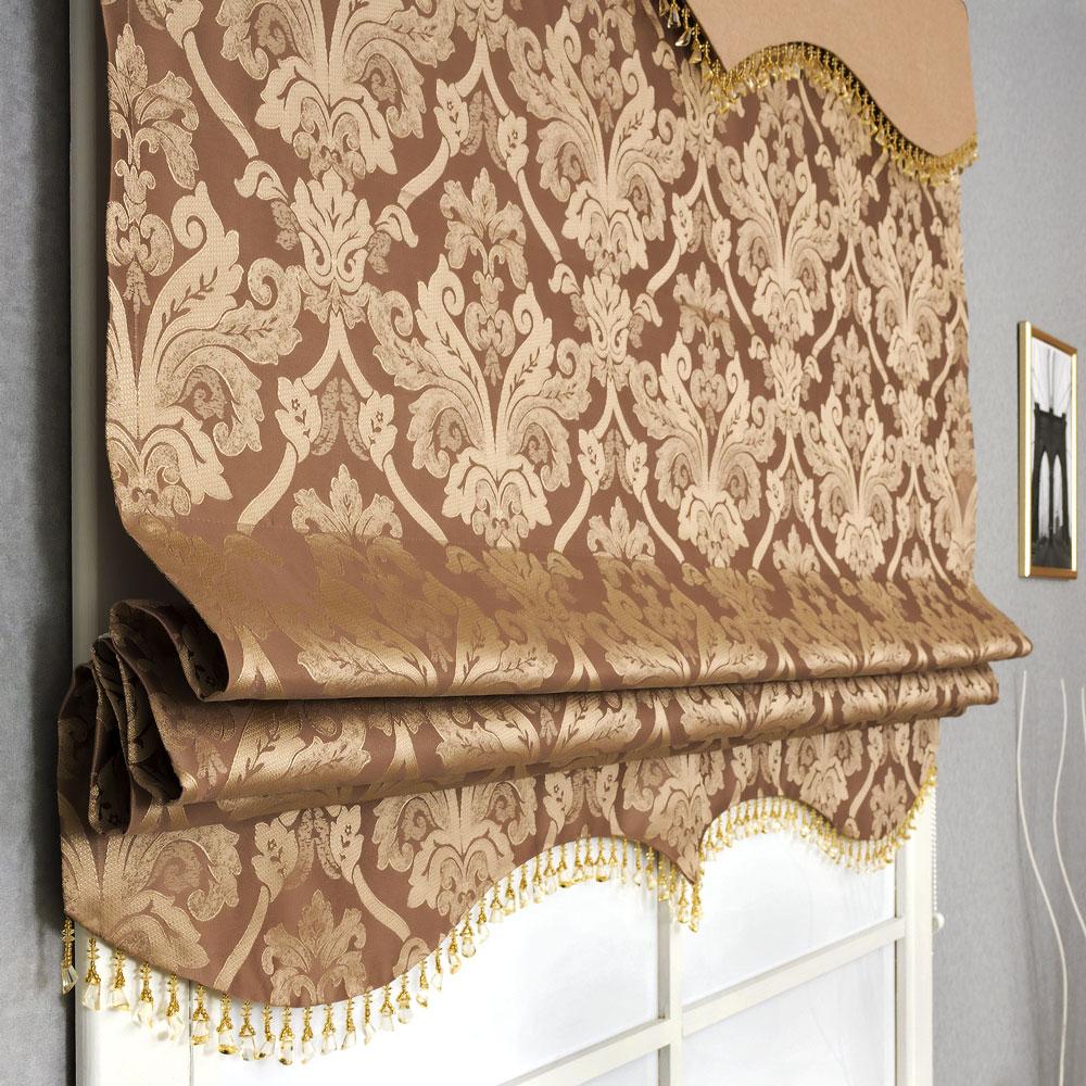 Римская штора с лабрекеном