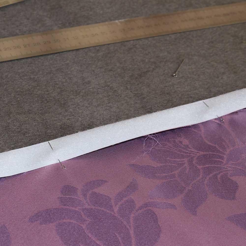 шов на липучку римской шторы