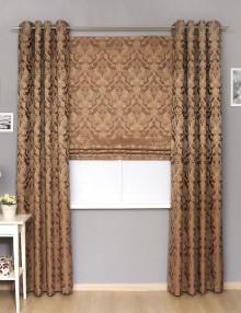Классические шторы комплект шторы на люверсах и римския штора