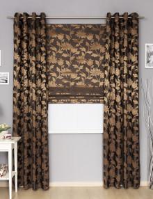 Комплект готовых штор римская штора и шторы на люверсах
