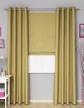Шторы в комплекте, римская штора и шторы на люверсах