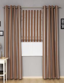 Комплект стильных штора в полоску шторы на люверсах римская штора