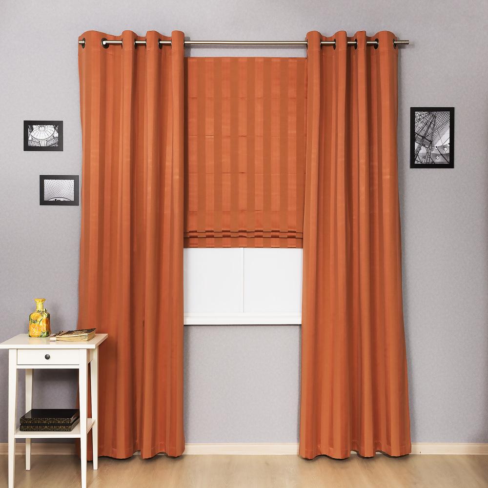 Комплект штор римская штора и шторы на люверсах