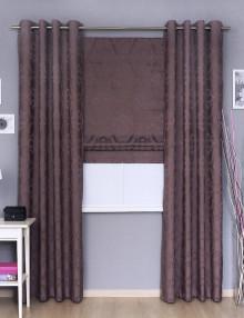 Комплект штор Pella 110 состоит из римской шторы с карнизом и штор на люверсах