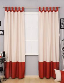 Оригинальные шторы на петлях с контрастным кантом