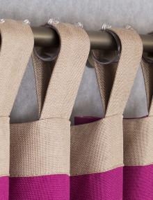 Шторы на петлях из яркой ткани с петлями из ткани компаньона
