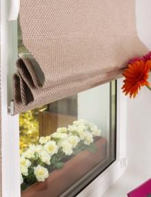Мини римские шторы на окне