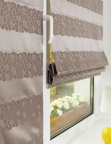 Мини римские шторы из ткани на пластиковом окне