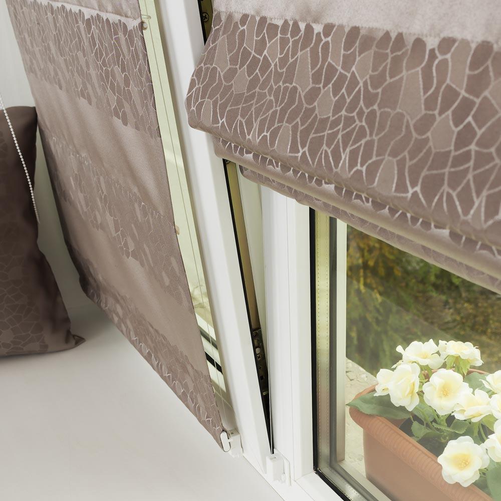 Мини римские шторы напластиковом окне