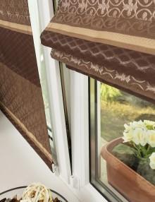 Мини римские шторы на окне без сверления