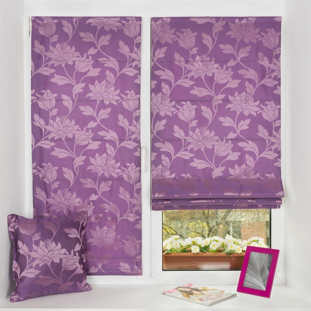 Мини римские шторы на пластиковом окне и декоративная подушка. Монтаж за 5 минут без сверления