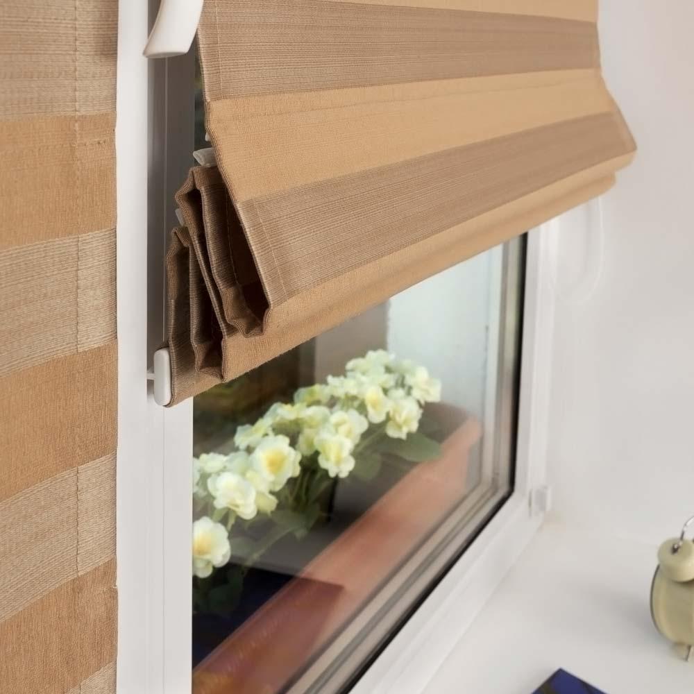 Мини римская штора отлично подходит вместо рулонных штор