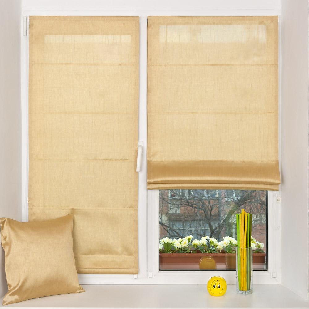 Красивые мини римские шторы на пластиковом окне и декоративная подушка