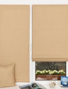Мини римские шторы на пластиковом окне кухни