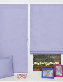 однотонные расивые мини римские шторы нежного лавандового цвета