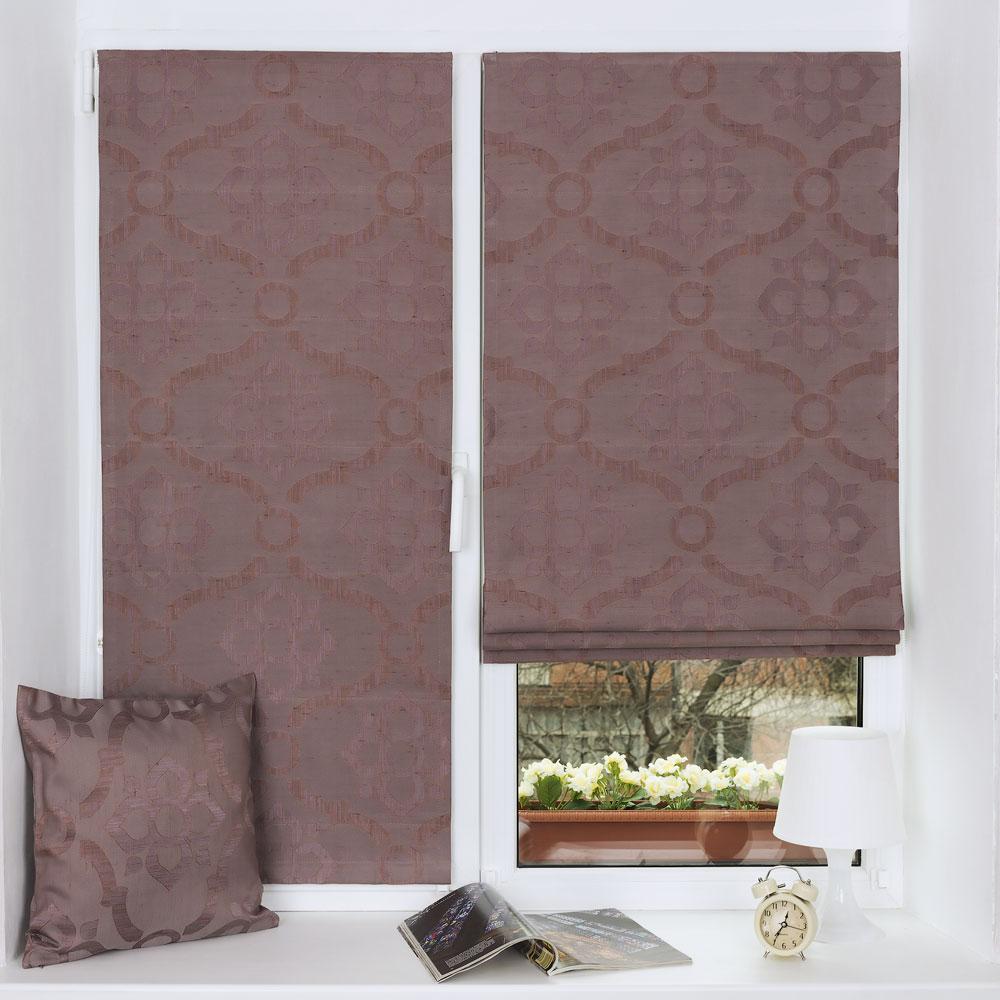 Мини римские шторы с классическим рисунком из ткани с эффектом состаренности