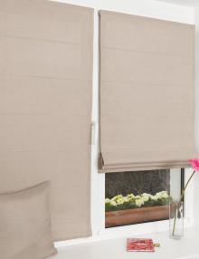 Мини римские шторы спокойного цвета кварц с установкой без свердения