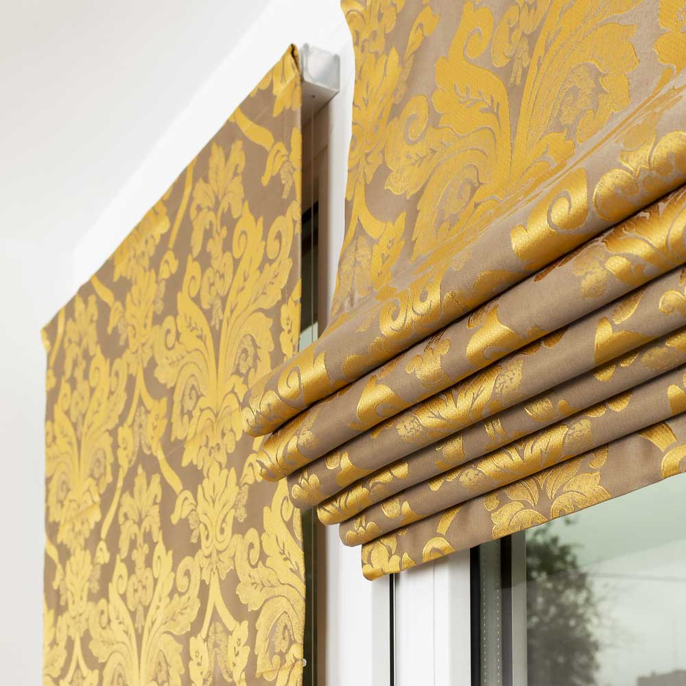 Мини римские шторы собранные в складки ткань Brenda 3